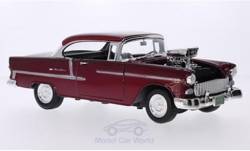 Chevrolet Bel Air 1/18 Motormax Tuning metallic-rouge 1955 miniature