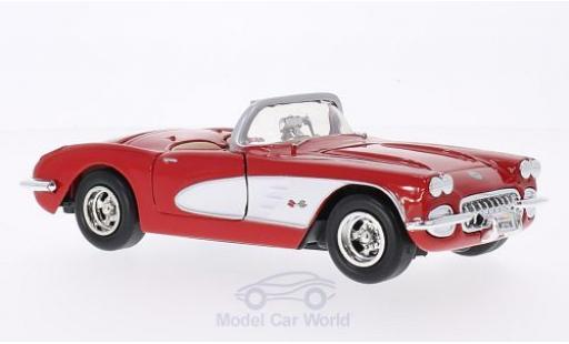 Chevrolet Corvette 1/24 Motormax (C1) red/white 1959 diecast