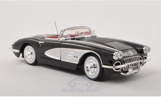 Chevrolet Corvette 1/18 Motormax C1 black/grey 1958 diecast