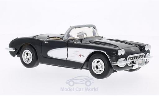 Chevrolet Corvette 1/24 Motormax (C1) black/white 1959 ohne Vitrine diecast model cars