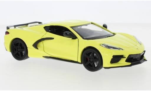 Chevrolet Corvette 1/24 Motormax C8 Stingray giallo 2020 modellino in miniatura