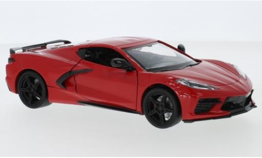 Chevrolet Corvette 1/24 Motormax C8 Stingray rouge 2020 miniature