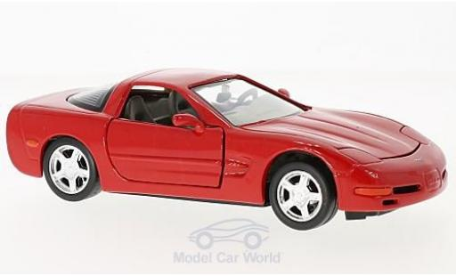 Chevrolet Corvette C5 1/24 Motormax rouge 1997 miniature