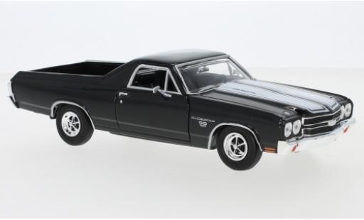Chevrolet El Camino 1/24 Motormax SS 396 noire/blanche 1970 miniature