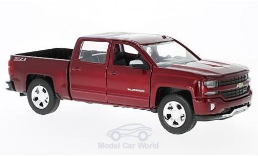 Chevrolet Silverado 1/27 Motormax 1500 LT - Z71 metallic-dunkelrouge 2017 Maßstab:1:27 Doppelkabine mit kurzer Ladefläche miniature