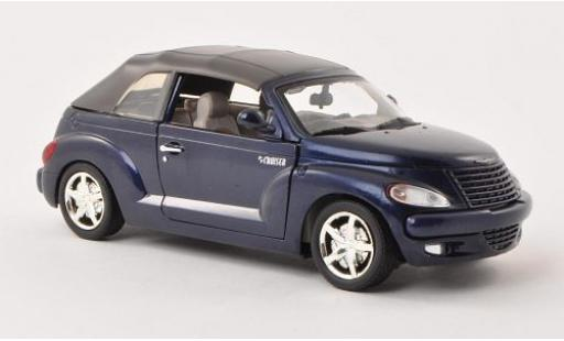 Chrysler PT Cruiser 1/24 Motormax Convertible metallise bleue sans Vitrine miniature