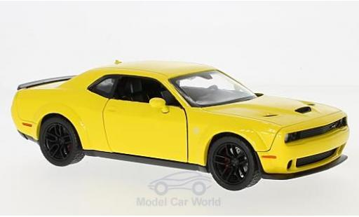 Dodge Challenger 1/24 Motormax SRT Hellcat Wide-Body jaune 2018 miniature