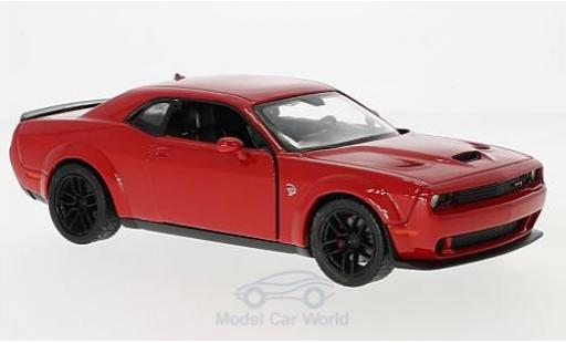Dodge Challenger 1/24 Motormax SRT Hellcat Wide-Body rouge 2018 miniature