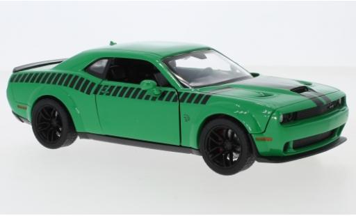 Dodge Challenger 1/24 Motormax SRT Hellcat Widebody verte/noire 2018 miniature