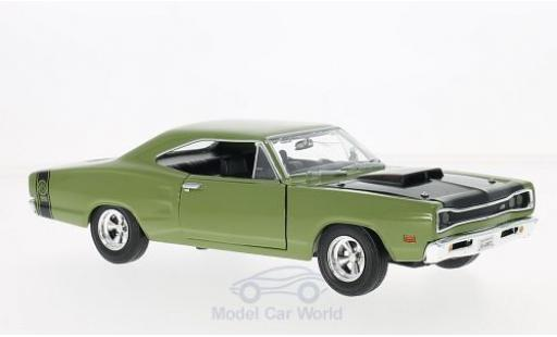 Dodge Coronet 1/24 Motormax Super Bee oliv/noire 1969 miniature