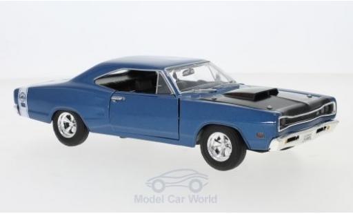 Dodge Coronet 1/24 Motormax Super Bee metallise bleue/noire 1969 miniature