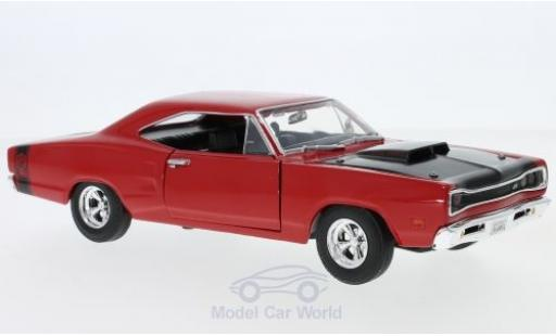 Dodge Coronet 1/24 Motormax Super Bee rouge/noire 1969 miniature
