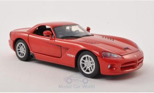 Dodge Viper 1/24 Motormax SRT-10 Hard Top rouge 2003 ohne Vitrine miniature