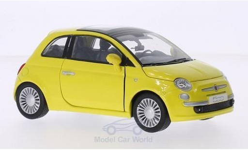 Fiat 500 L 1/24 Motormax yellow 2007 diecast