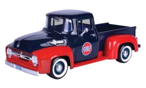 Ford F-1 1/24 Motormax 00 Pick Up bleue/rouge Gulf 1956 miniature