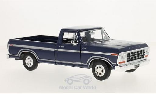Ford F-1 1/24 Motormax 50 Custom bleue 1979 miniature