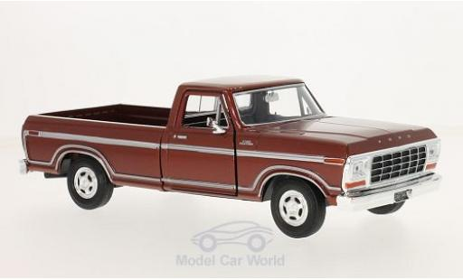 Ford F-1 1/24 Motormax 50 Custom metallise rouge 1979 miniature