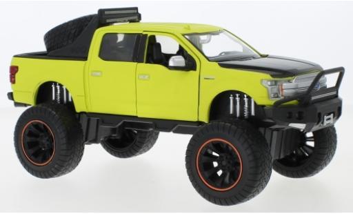 Ford F-1 1/24 Motormax 50 Lariat Crew Cab Off Road matt-verte/matt-noire 2019 Maßstab 1:27 miniature