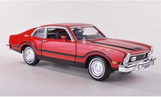 Ford Maverick 1/24 Motormax rouge 1974 sans Vitrine miniature