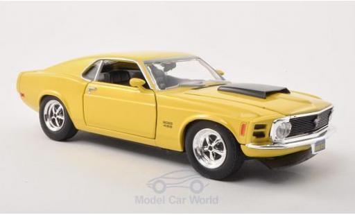 Ford Mustang 1/24 Motormax Boss 429 jaune/noire 1970 miniature