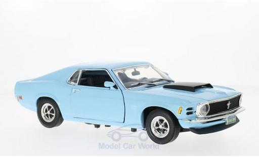 Ford Mustang 1/18 Motormax Boss 429 bleue 1970 miniature