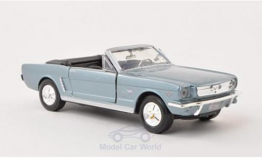 Ford Mustang 1/24 Motormax Convertible metallise bleue 1964 ohne Vitrine miniature