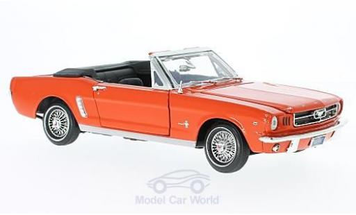 Ford Mustang 1/18 Motormax Convertible orange 1964 miniature