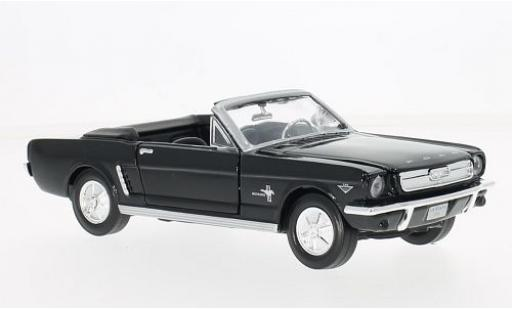 Ford Mustang 1/24 Motormax Convertible black 1964 diecast model cars