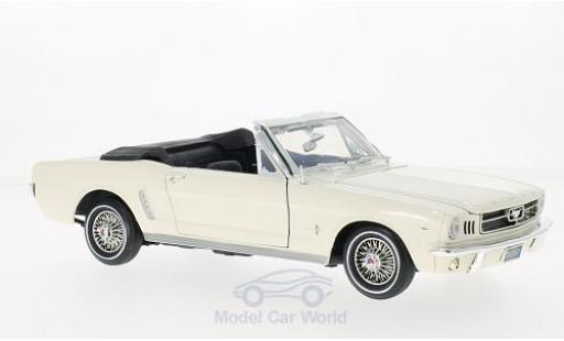 Ford Mustang 1/18 Motormax Convertible blanche 1964 miniature