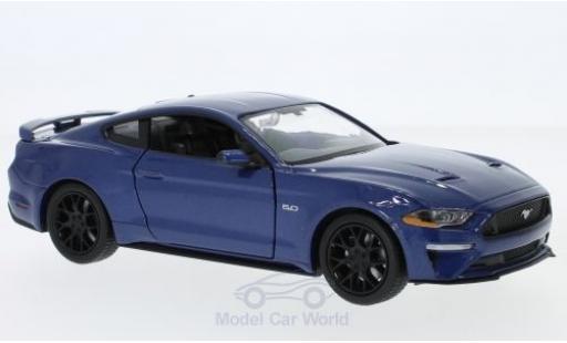 Ford Mustang 1/24 Motormax GT metallise bleue 2018 miniature
