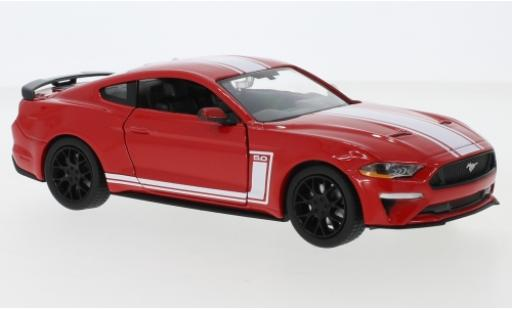 Ford Mustang 1/24 Motormax GT red/white 2018 diecast model cars