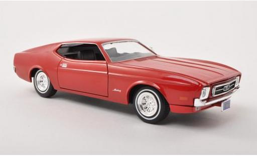 Ford Mustang 1/24 Motormax Sportsroof red 1971 sans Vitrine diecast model cars