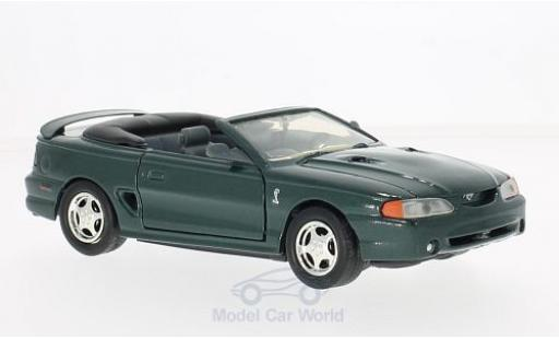 Ford Mustang 1/24 Motormax SVT Cobra Convertible metallise verte 1998 miniature