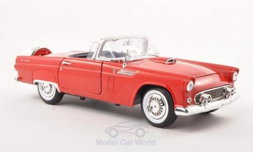 Ford Thunderbird 1/18 Motormax Convertible rouge 1956 miniature