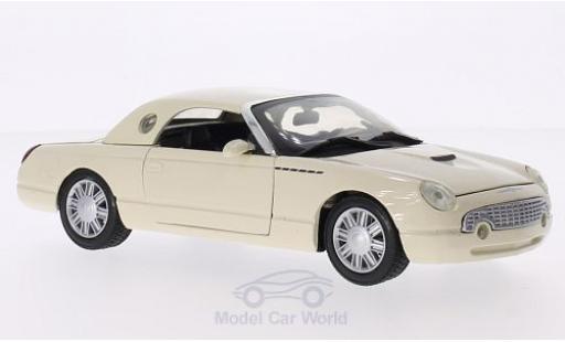 Ford Thunderbird 2002 1/24 Motormax Hardtop beige miniature