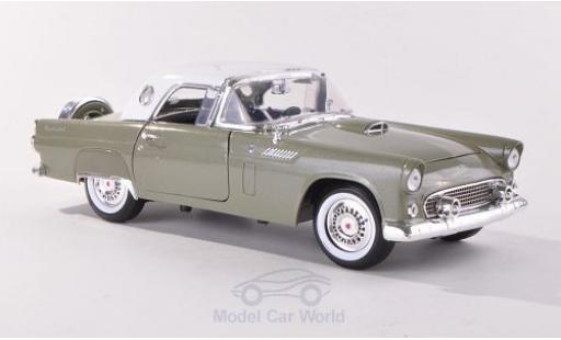 Ford Thunderbird 1956 1/18 Motormax Hardtop metallise verte/blanche miniature