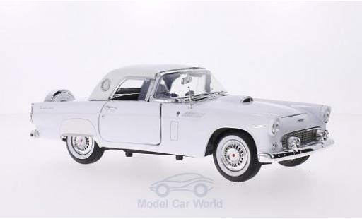 Ford Thunderbird 1/18 Motormax Hardtop white 1956 diecast model cars