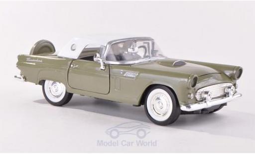 Ford Thunderbird 1/24 Motormax metallise verte/blanche 1956 ohne Vitrine miniature