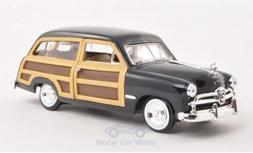 Ford Woody 1/24 Motormax Wagon blue/Holzoptik 1949 ohne Vitrine diecast model cars