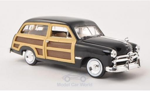 Ford Woody 1/24 Motormax Wagon black/Holzoptik 1949 ohne Vitrine diecast model cars