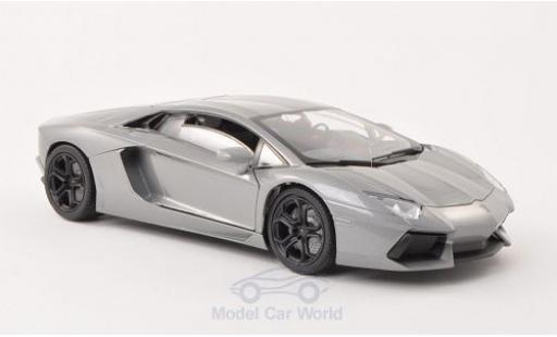 Lamborghini Aventador 1/18 Motormax LP 700-4 grey diecast model cars