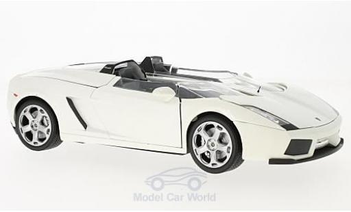 Lamborghini Concept 1/18 Motormax S métallisé blanche miniature