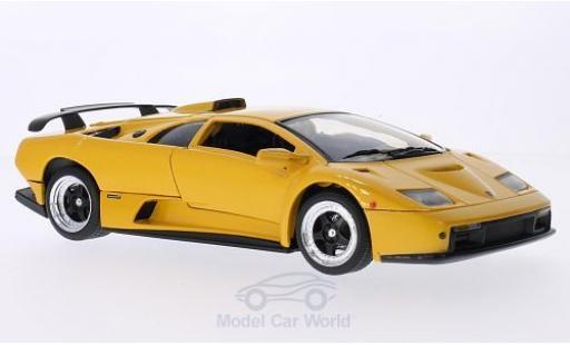 Lamborghini Diablo 1/18 Motormax GT métallisé jaune miniature