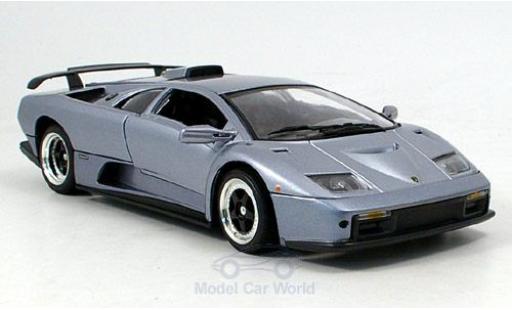 Lamborghini Diablo GT 1/18 Motormax metallise grey diecast model cars