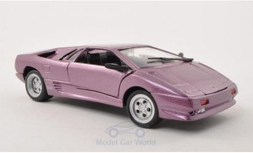 Lamborghini Diablo 1/24 Motormax métallisé lila ohne Vitrine miniature