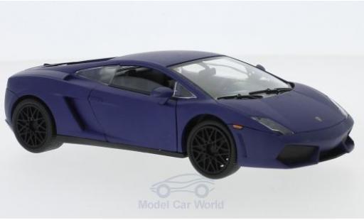 Lamborghini Gallardo 1/24 Motormax LP 560-4 matt-bleue 2008 miniature