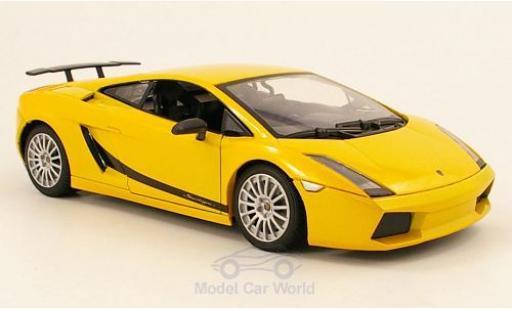 Lamborghini Gallardo 1/18 Motormax Superleggera metallise jaune miniature