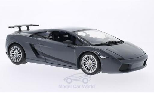 Lamborghini Gallardo 1/18 Motormax Superleggera métallisé noire miniature