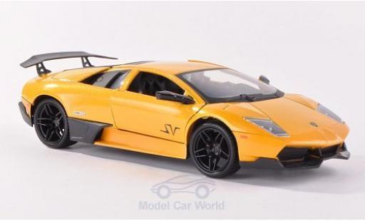 Lamborghini Murcielago LP670-4 1/24 Motormax LP670-4 SV metallic-jaune miniature