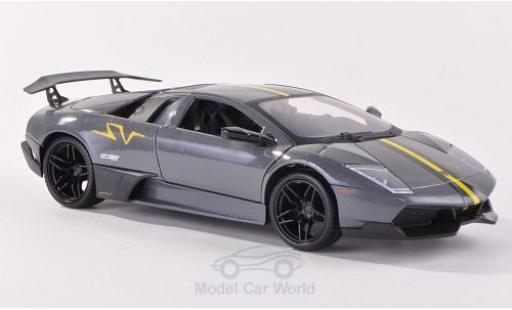 Lamborghini Murcielago LP670-4 1/24 Motormax SV metallise grey/matt-black diecast model cars